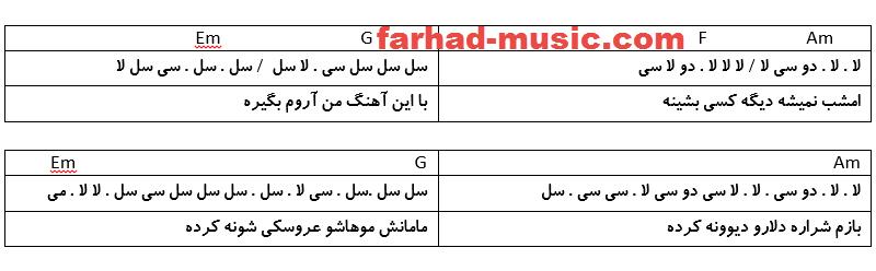 نت فارسی شراره سعید آسایش