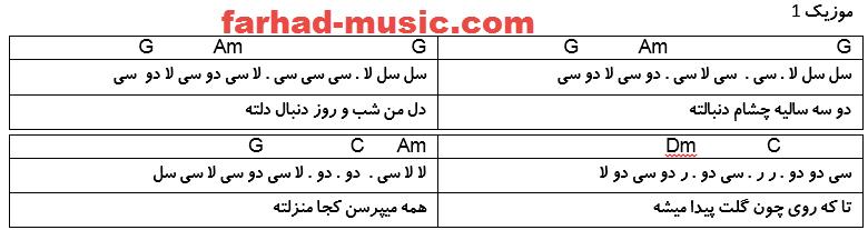 نت فارسی زلیخا سعید محمدی